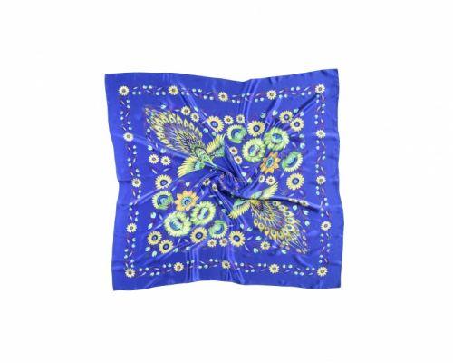 Синий платок «Волшебные Жар-птицы»
