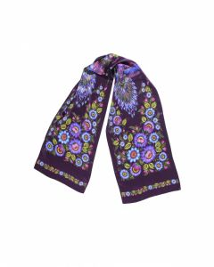 Платки Бордовая шаль «Волшебные Жар-птицы»