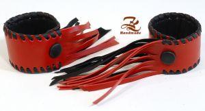 Красный кожаный браслет Браслет 2