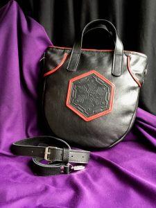 Афына Мирослава Женская черная кожаная сумка