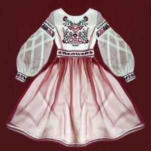 Вышиванки ручной работы Праздничное платье с вышивкой Апрельский цвет