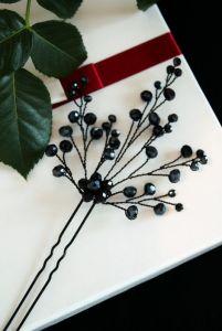 Заколки ручной работы Черная шпилька для волос