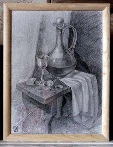 "Картины графика ""Натюрморт с графином"", 2008"