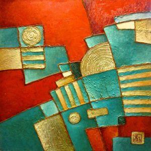 Картины маслом Бирюзовый Сфинкс