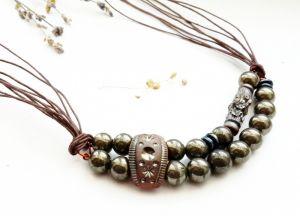 Ожерелье из пирита Черное золото