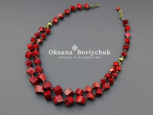"""Ожерелье """"Рубиновые розы"""""""