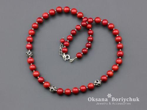 """Ожерелье """"Коралловая улыбка"""" - изображение 1"""