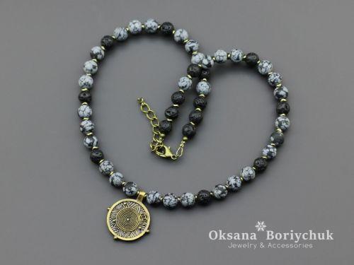 """Ожерелье """"Морозная ночь"""" - изображение 1"""