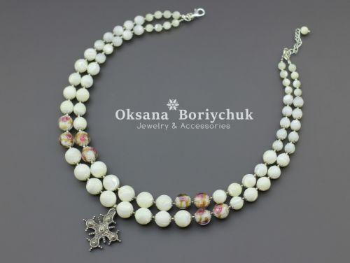 """Ожерелье """"Цветочный рай"""""""