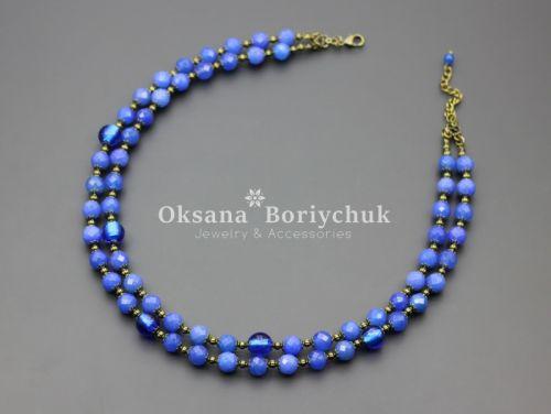 """Ожерелье """"Голубая лагуна"""""""