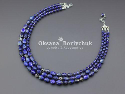"""Ожерелье """"Небесная синева"""""""