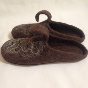 Обувь ручной работы Домашние валяные тапки