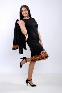 Чорна сукня з вишивкою Сукня Ч 7237