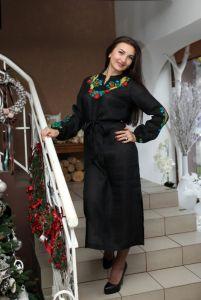 Чорна сукня з вишивкою Сукня Ч 7077