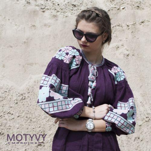 Купити Вишита сукня Пурпур MOTYVY1 на UkrainArt 177d7926aeb27