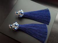 Сережки китиці з перлами Сваровськи