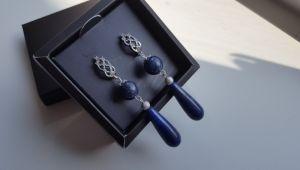 Сережки з лазуритом