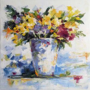 Нарисованные картины Весенний букет