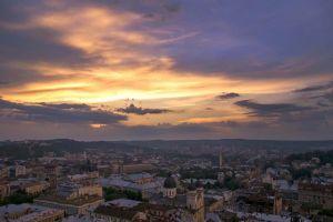 Повалинская Моника Закат солнца над Львовом
