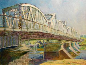 """Нарисованные картины """"Мост через  Вислу"""""""