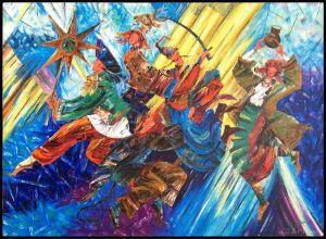 """Нарисованные картины """"Три празники"""""""