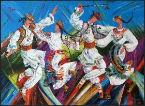 """Мальовані картини """"Гуцульські танці"""""""