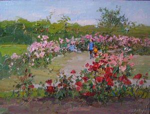 """Гамалей Григорий """"Розы в саду"""""""