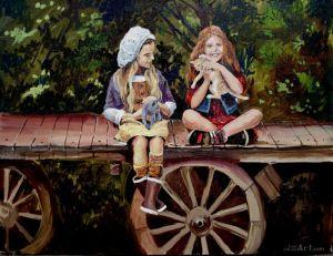 """Нарисованные картины """"Подруги"""""""