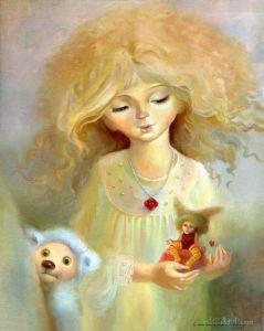 """Нарисованные картины """"Кукольная фиєрия"""" (часть триптиха)"""