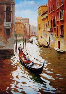 """Нарисованные картины """"Венеция. Солнечный день"""""""