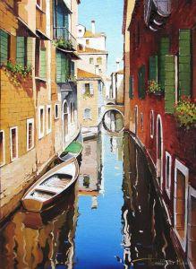 """Нарисованные картины """"Венеция. Канал"""""""