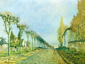 Сислей Альфред Дорога в Север близ Лувесьена