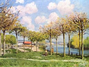 Сислей Альфред Сена близ Буживаля