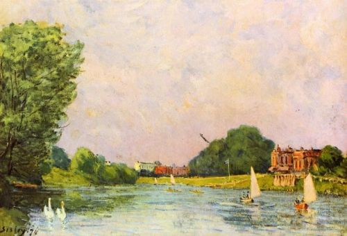 Темза близ Хэмптон-корта