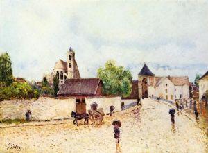 Сислей Альфред Дождь в Море-сюр-Луэн