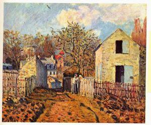 Сислей Альфред Деревня Вуазен
