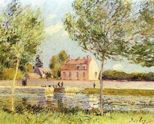 Сислей Альфред Дома на берегу Луэна