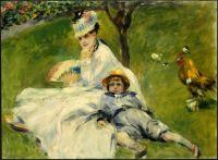 Мадам Моне с сыном
