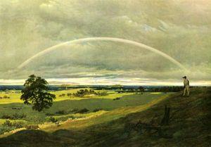Фридрих Каспар Пейзаж с радугой