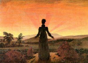 Фридрих Каспар Женщина в лучах утреннего солнца