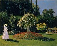 Жанна-Маргарита Лекадр в саду