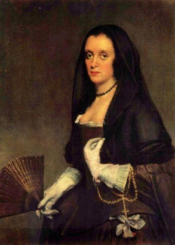 Портрет дамы с веером