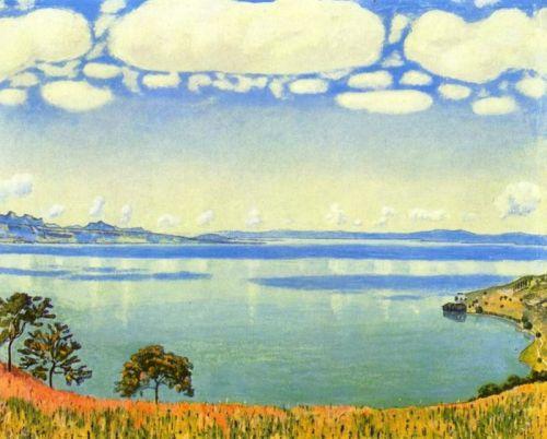 Вид Женевского озера с Шебре