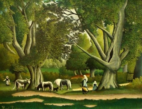 Пейзаж с доярками