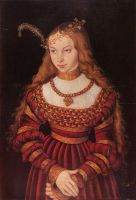 Портрет принцессы Сибиллы Клевской в наряде невесты
