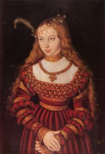 Кранах Лукас Портрет принцессы Сибиллы Клевской в наряде невесты