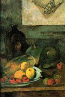 Натюрморт на фоне гравюры Делакруа