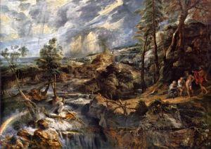 Рубенс Питер Пауль Грозовой пейзаж с Филемоном и Бавкидой