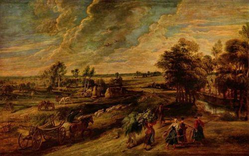 Крестьяне, возвращающиеся с поля - изображение 1