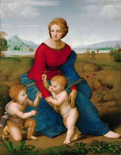 Мадонна в зелени. Мария с младенцем и Иоанном Крестителем
